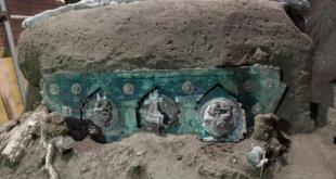 Italie : découverte d'un char de l'époque romaine près de Pompéi